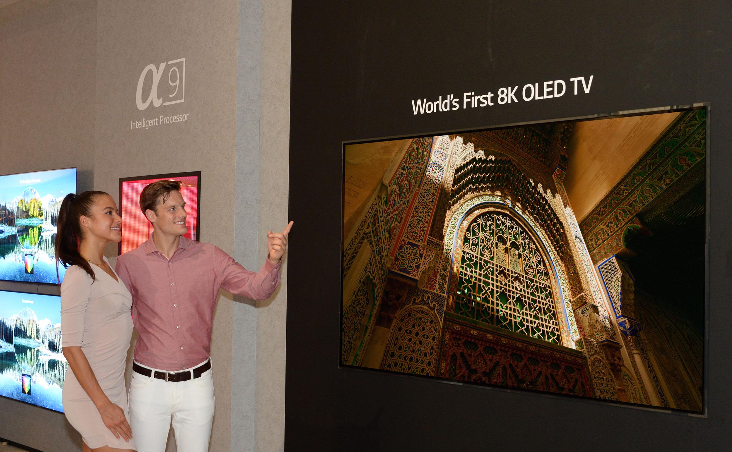 LG pristato pirmąjį pasaulyje 8K raiškos OLED televizorių