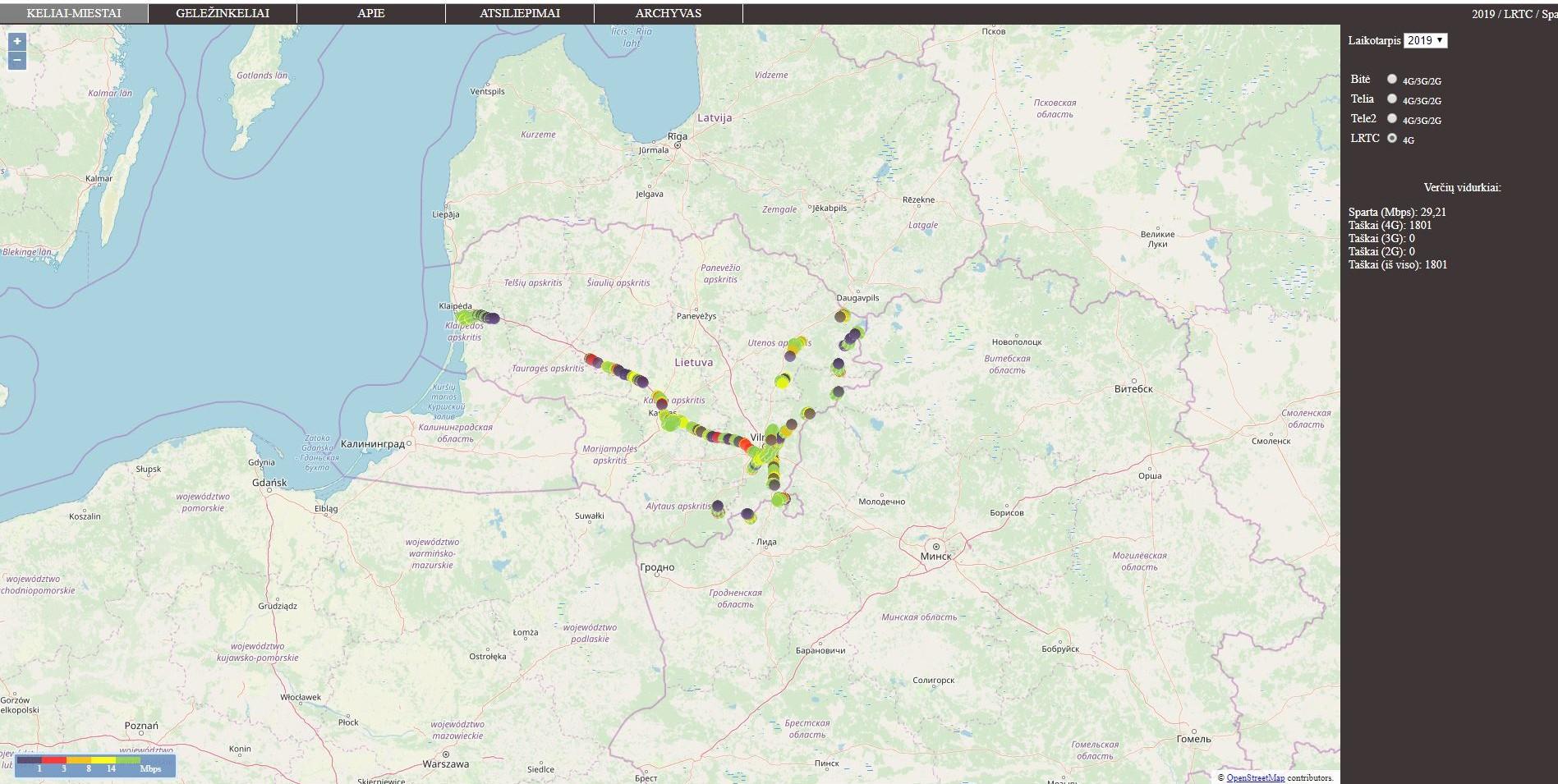 """RRT išmatavo Rytų Lietuvą: """"Tele2"""" internetas sparčiausias ir čia"""