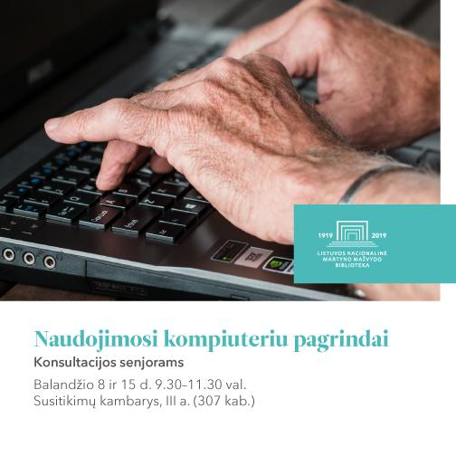 Naudojimosi kompiuteriu pagrindai: konsultacijos senjorams