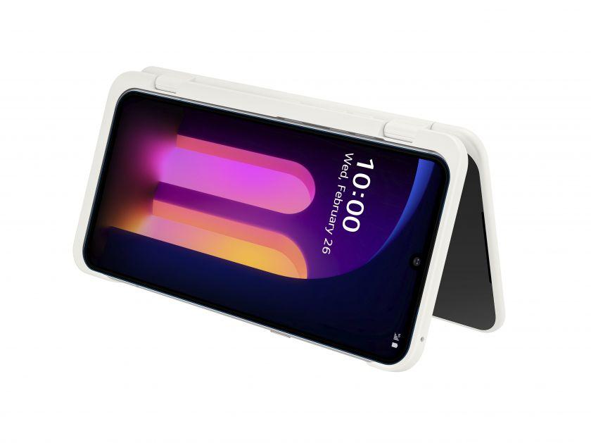 """LG pristatė """"V60 THINQ 5G"""" su ekranu """"LG DUAL SCREEN"""", užtikri-nantį tikrai mobilią ateitį"""
