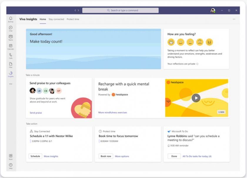 """""""Microsoft Teams"""" atsinaujina: padės žiūrėti pašnekovams į akis ir kvies atsipalaiduoti medituojant"""